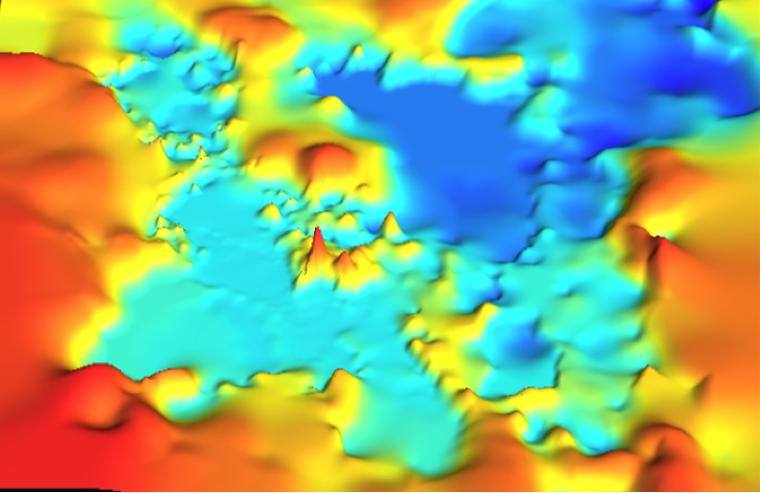 Digital elevation model of Al Asfar Lake
