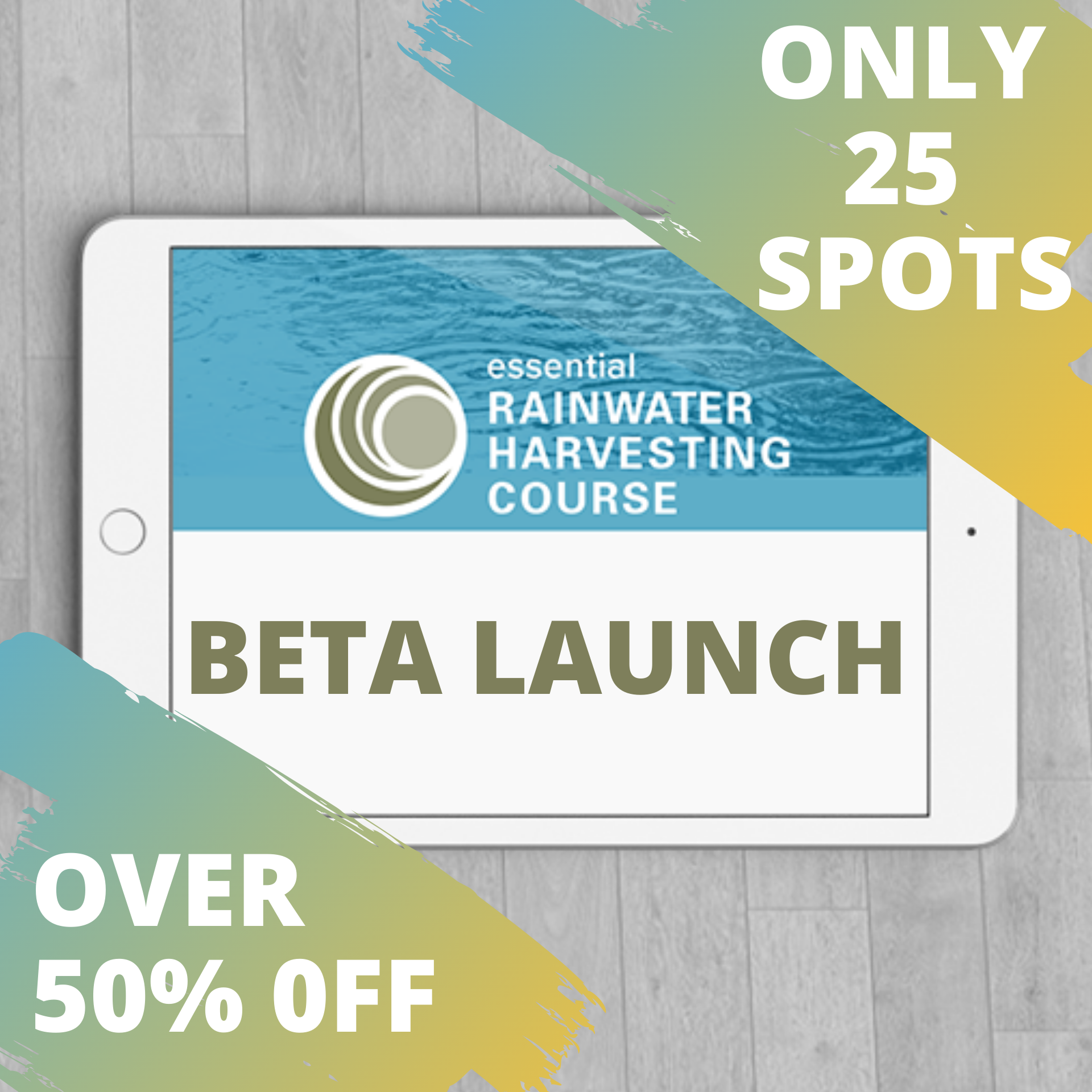 Home Scale Rainwater Harvesting Online Course